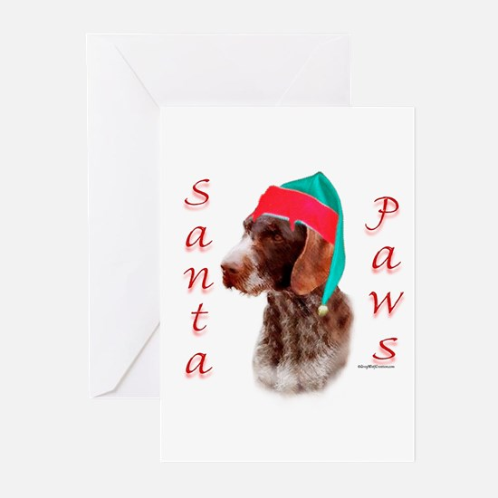Santa Paws Wirehaired Pointer Greeting Cards (Pack