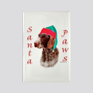 Santa Paws Wirehaired Pointer Rectangle Magnet