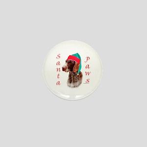 Santa Paws Wirehaired Pointer Mini Button