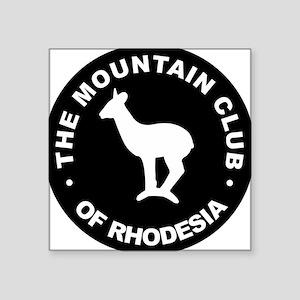 Rhodesian Mountain Club white on black Square Stic