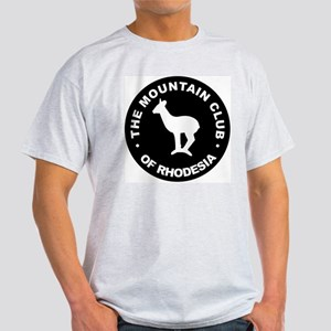 Rhodesian Mountain Club white on black Light T-Shi