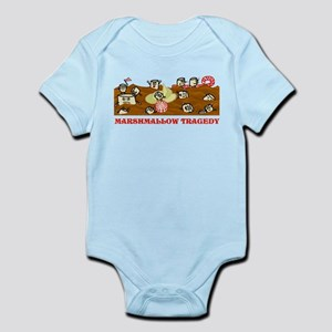 Funny Marshmallow Tragedy Infant Bodysuit