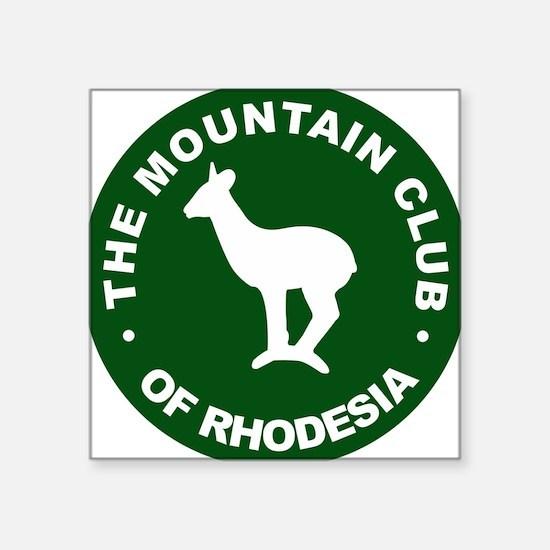 "Rhodesian Mountain Club green Square Sticker 3"" x"