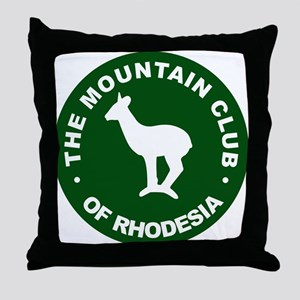 Rhodesian Mountain Club green Throw Pillow