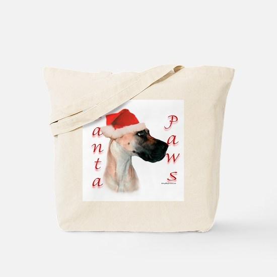 Santa Paws Great Dane Tote Bag