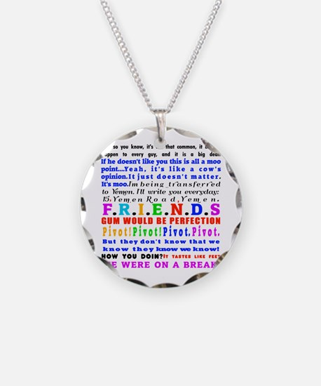 Friends Quotations Necklace