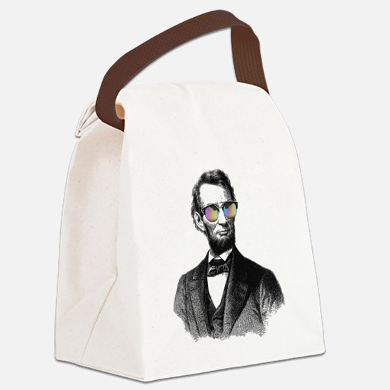 Cool Abe lincoln Canvas Lunch Bag