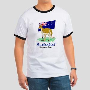 Australia Hop On Over Ringer Tee