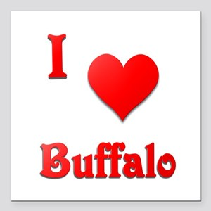 "I Love Buffalo #21 Square Car Magnet 3"" x 3"""