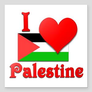 """I Love Palestine #4 Square Car Magnet 3"""" x 3"""""""