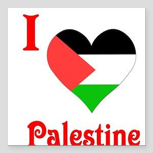"""I Love Palestine #5 Square Car Magnet 3"""" x 3"""""""
