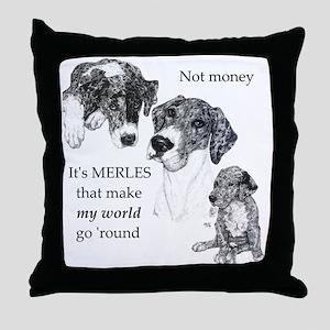 Merles World Throw Pillow