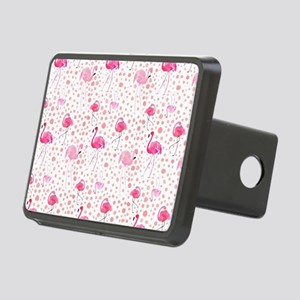 Pink Flamingos and dots pa Rectangular Hitch Cover