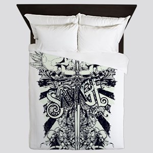 savage skull Queen Duvet