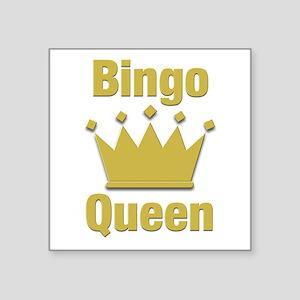 """Bingo Queen Square Sticker 3"""" x 3"""""""