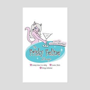 Frisky Feline Rectangle Sticker