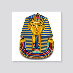 "King Tut Mask #2 Square Sticker 3"" x 3"""