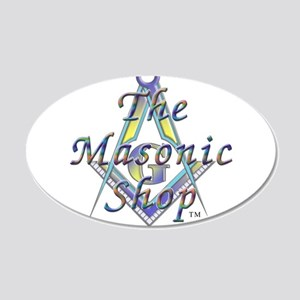 The Masonic Shop Logo 20x12 Oval Wall Decal