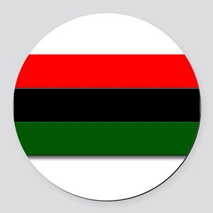 Red Black and Green Flag Round Car Magnet