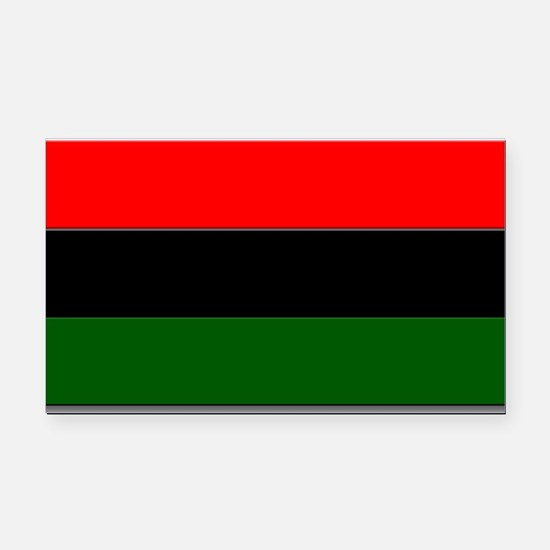 Red Black and Green Flag Rectangle Car Magnet