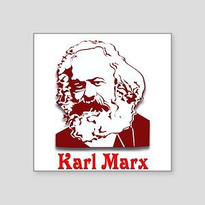 "Karl Marx Square Sticker 3"" x 3"""
