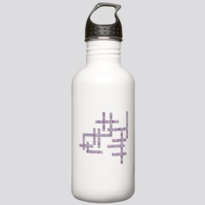 WBC Crossword Puzzle Stainless Water Bottle 1.0L