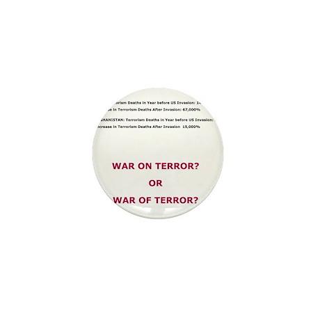 War on Terror or War of Terror? Mini Button