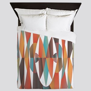 Colorful geometric abstract Queen Duvet
