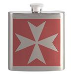 White Maltese Cross Flask