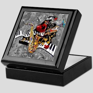 Piece of My Heart Piano Sax Heart Keepsake Box