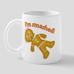 Funny Smashed Gingerbread Christmas Mug