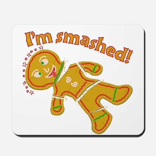 Funny Smashed Gingerbread Christmas Mousepad