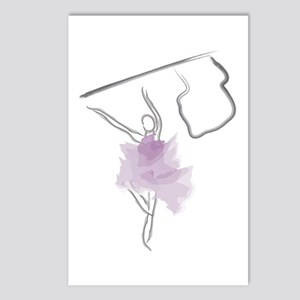 Colorguard Flag Toss Sketch Postcards (Package of