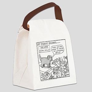 Puppy School - Listening Canvas Lunch Bag