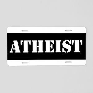 Atheist Aluminum License Plate