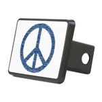 Blue Peace Sign Rectangular Hitch Cover