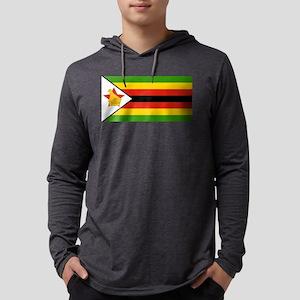 Zimbabwe Flag Mens Hooded Shirt