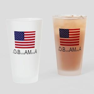 America blesses Obama Drinking Glass