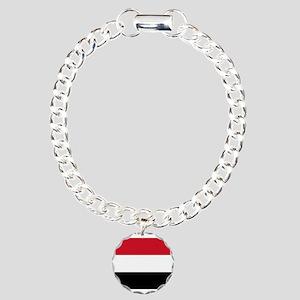 Yemen - National Flag Charm Bracelet, One Charm