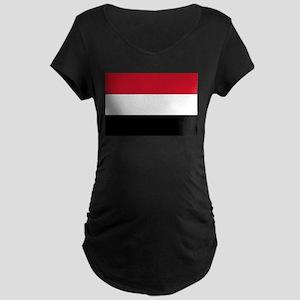 Yemen - National Flag Maternity Dark T-Shirt