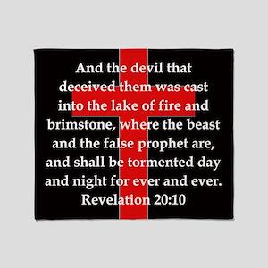 Revelation 20-10 Throw Blanket