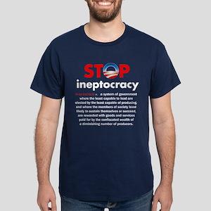 Stop Obama's Ineptocracy Dark T-Shirt
