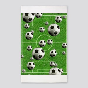 Soccer-Balls-Over-A-Field 3'x5' Area Rug