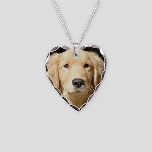 Golden Retriever Necklace Heart Charm