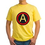 US Army Central SSI Yellow T-Shirt