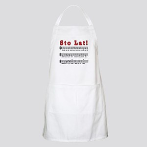Sto Lat! Song Apron