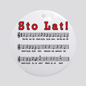 Sto Lat! Song Ornament (Round)