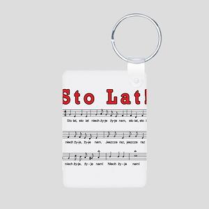Sto Lat! Song Aluminum Photo Keychain