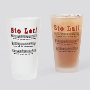 Sto Lat! Song Drinking Glass
