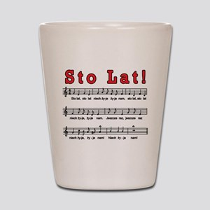 Sto Lat! Song Shot Glass